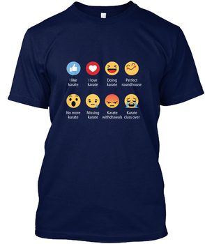 Karate Emojication Komik Mens Hanes Tagless Tee T-Shirt